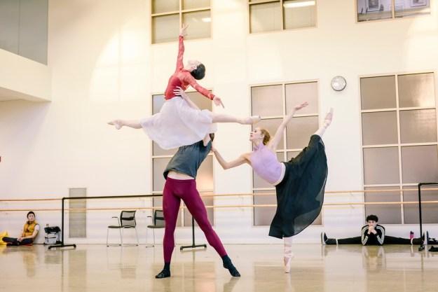 Diana Albrecht and Alexander Maryianowski in John Cranko's Onegin; photo by Gene Schiavone, courtesy of Boston Ballet