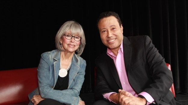 El Mundo Boston's Tim Estiloz sat down to chat with Hollywood Icon Rita Moreno. Photo: Ciro Valiente.