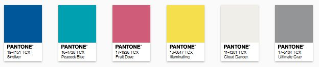 PANTONE - color of the year 2021 - Paleta Aviary