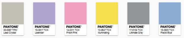 PANTONE - color of the year 2021 - Paleta Enlightenment