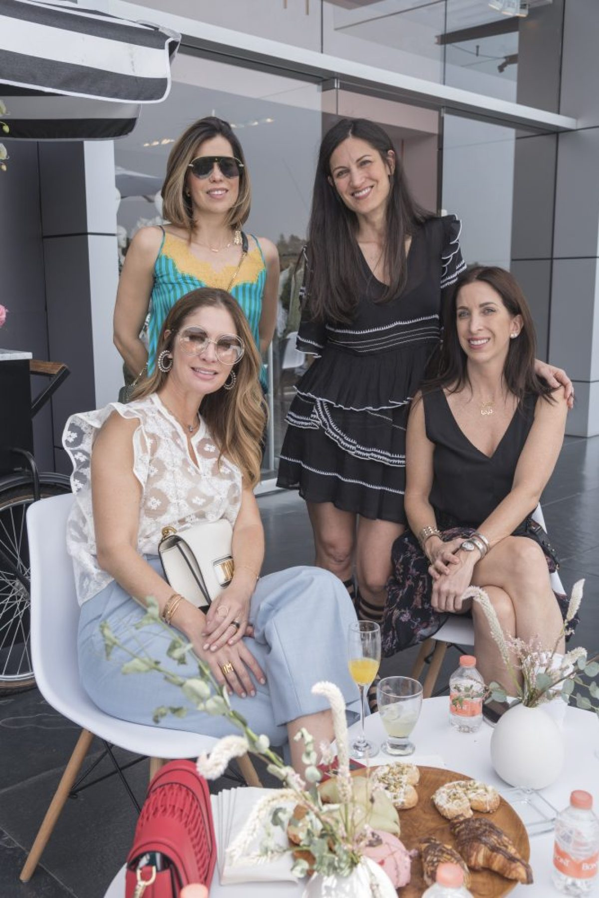 Valentina Uzcategui, Marlene de la garza, Yliana Yepes y Lídia Elizondo