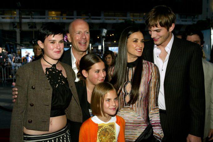 Demi Moore, Ashton Kutcher and Bruce Willis