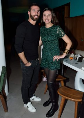 EVENTO: Cena de Accion de Gracias en el Hotel Condesa DF, Roma, 22 de Noviembre de 2018, Fotos. Veronica Gardu–o Soto. Pie de Foto: Edi Kirsch y Joselyn Gandrey