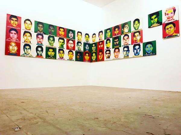 El artista chino es un criětico social, y en esta ocasioěn expuso sobre la tragedia de los desaparecidos en Ayotzinapa
