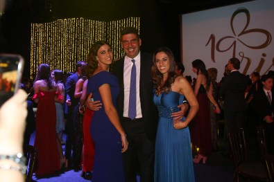 Johanna Elías Slim, Arturo Elías Ayub y Johanna Slim Domit.