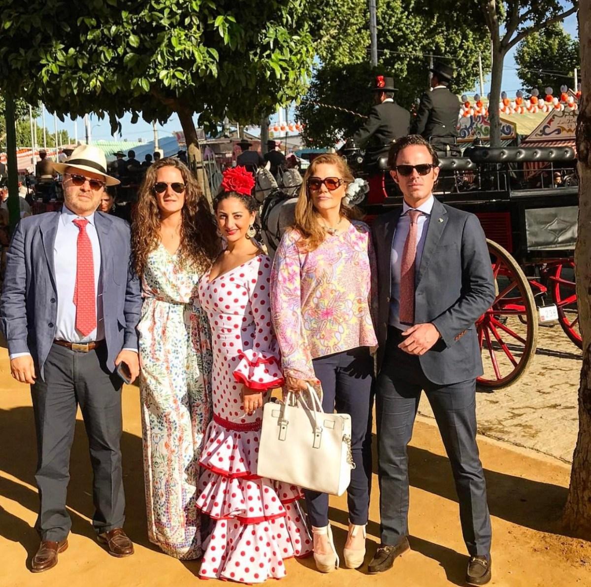 La familia Uribe va cada año a la feria