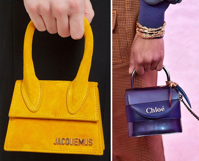 Minibags: Jacquemus, Chloé, Fall 2019.