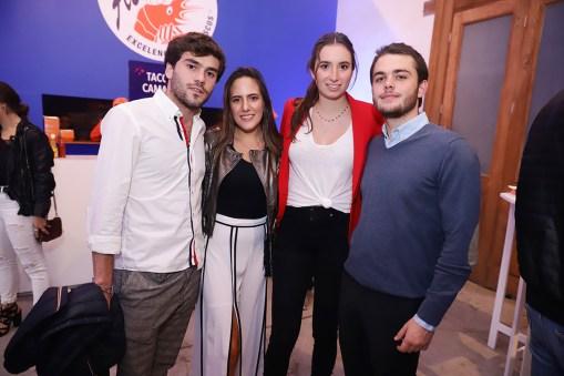 Rodolfo García de Alba, Valeria Chávez, Andrea Perez Gil y Antón Probst