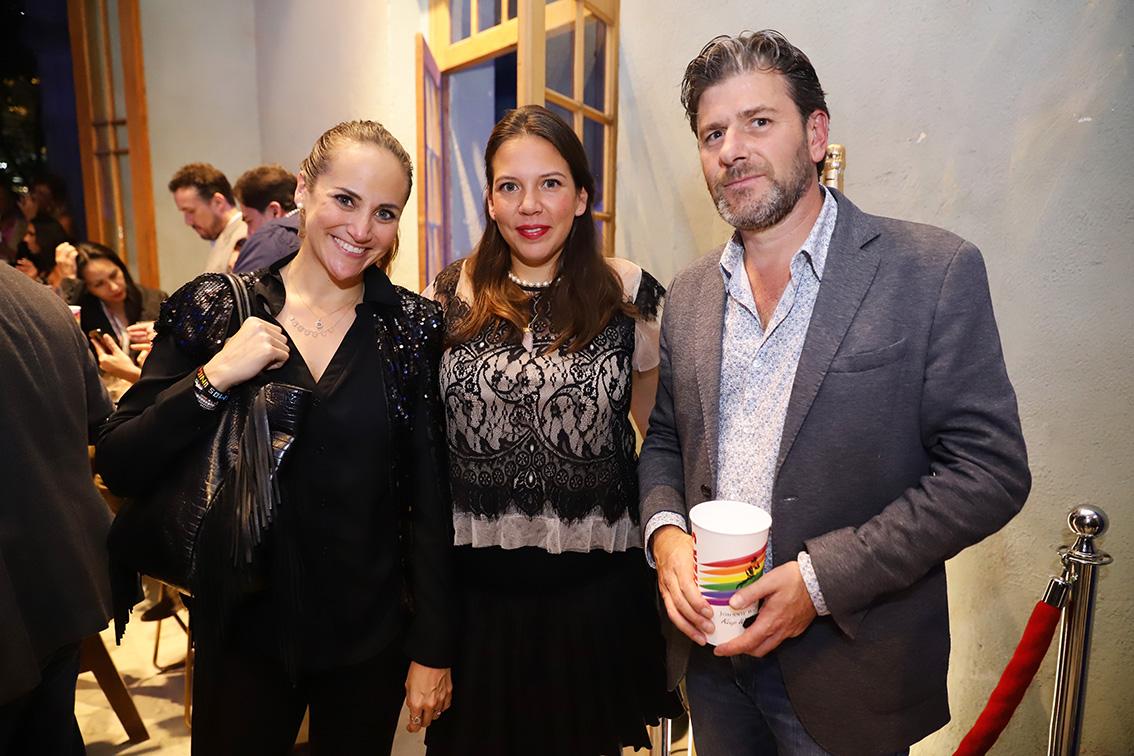 Ale Castillo, Paola Beléndes y Charly Franco