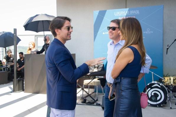 FOTO: Abelardo Marcondes, Jose Luis Bruno e Viviene Bruno - Brunch LuxuryLab Brasil (29/09/2019) ©2019 Samuel Chaves/S4 PHOTOPRESS