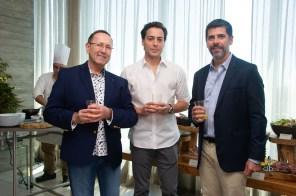 FOTO: Roberto Girotti (Delta Airlines), Rodrigo Xavier da Silveira e Joao Ricardo Coelho - Brunch LuxuryLab Brasil (29/09/2019) ©2019 Samuel Chaves/S4 PHOTOPRESS