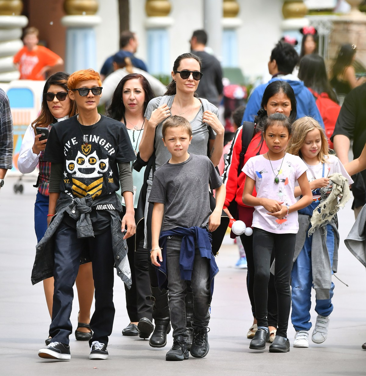 PREMIUM EXCLUSIVE Angelina Jolie And Kids Celebrate Shiloh's 11th Birthday At Disneyland
