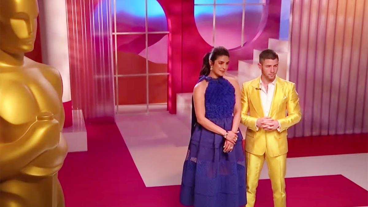 Priyanka Chopra y Nick Jonas anunciaron los nominados a los Oscar.