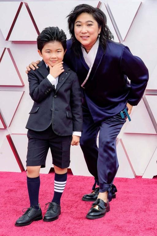 Alan Kim en los Oscar 2021.
