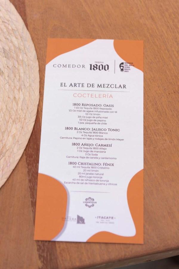 Menu Comida Casa Ortega