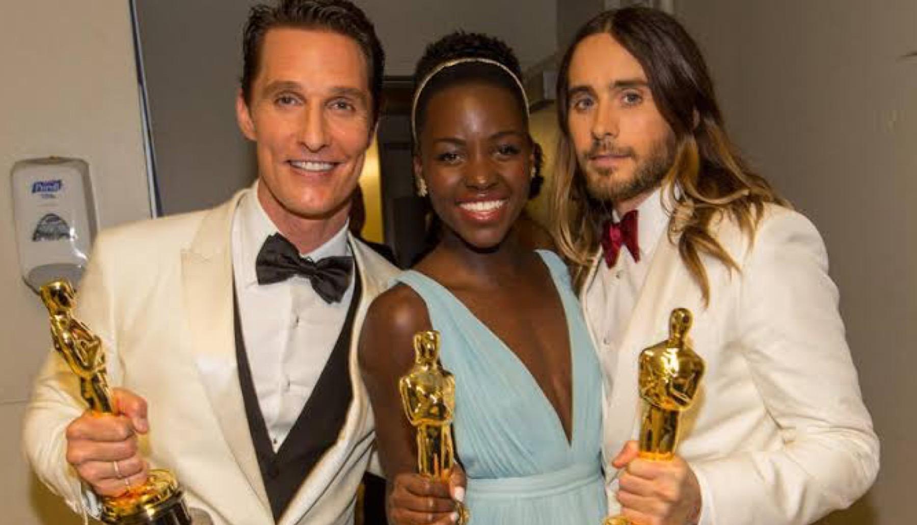 Matthew McConaughey, Lupita Nyong'o y Jared Leto