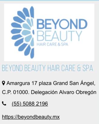 Beyond Beauty clínica de belleza.