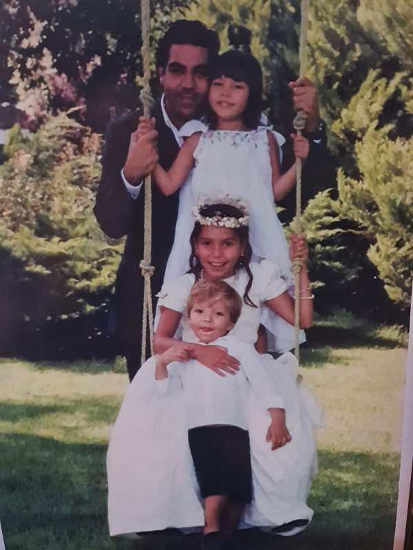 Pablo Moctezuma y sus hijos