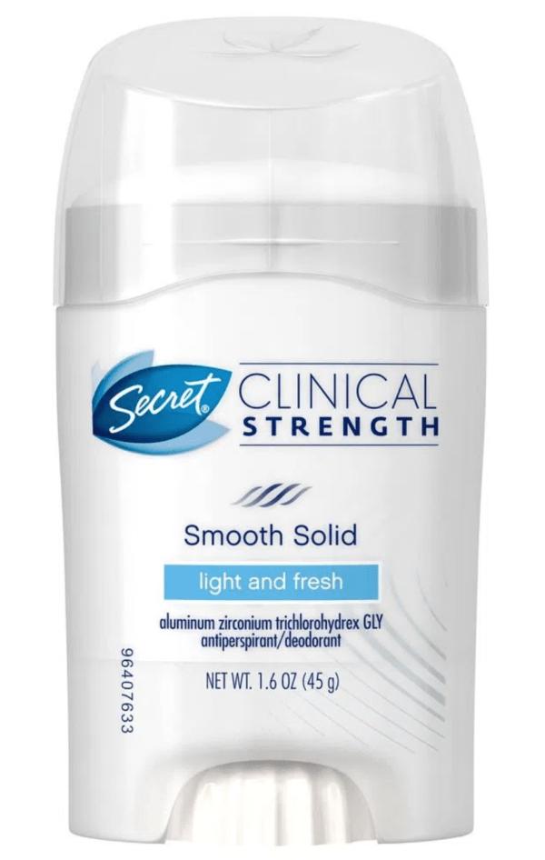 Desodorante secret clinical