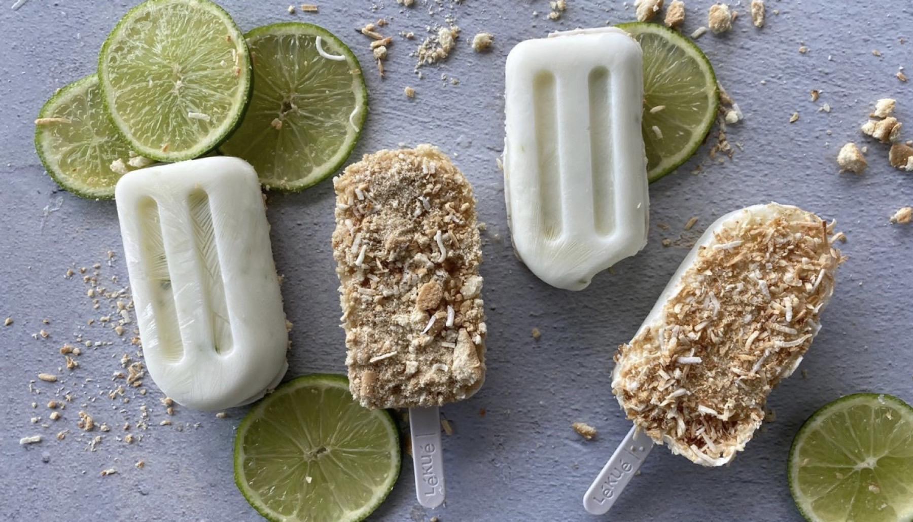 Paletas sabor pay de limón sin azúcar