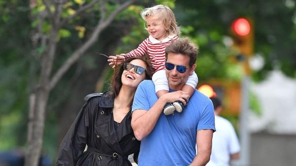 Irina Shayk, Bradley Cooper con su hija Lea