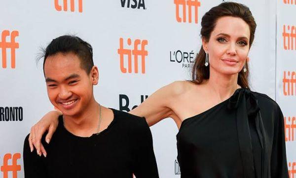 Angelina con su hijo Maddox