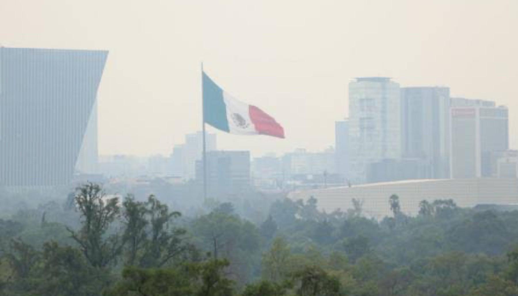 La ciudad de México con altos niveles de contaminación