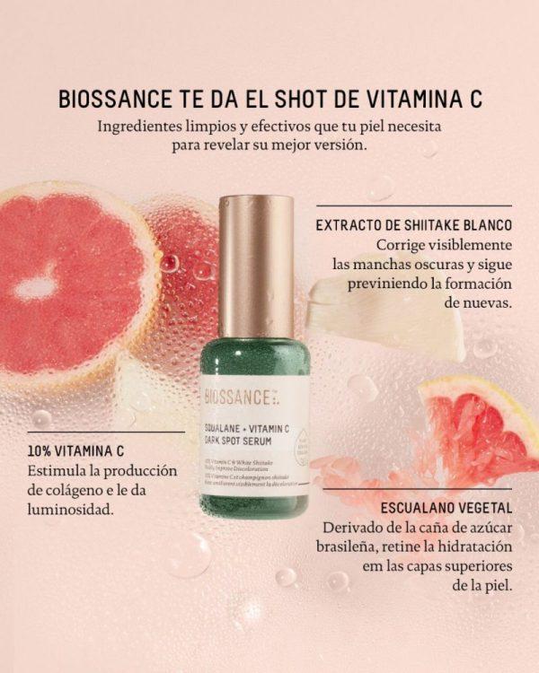 Biossance Squalane + Vitamin c, dark spot serum