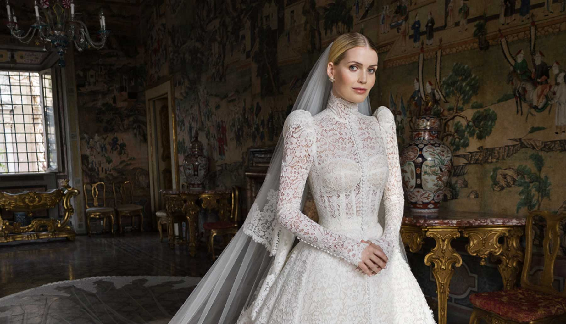 Lady Kitty Spencer vestido de novia blanco