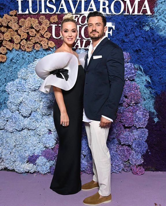 Katy Perry y Orlando Bloom en la alfombra roja
