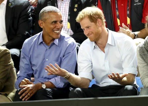 Obama y el príncipe Harry