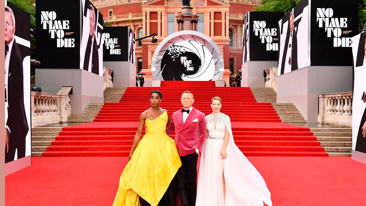 Premiere de No Time to Die (Sin tiempo para morir) de James Bond.