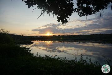 Puesta de sol cerca de Playa Los Alemanes