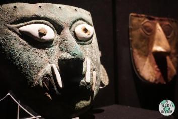 Máscaras en el Museo Larco en Lima Perú