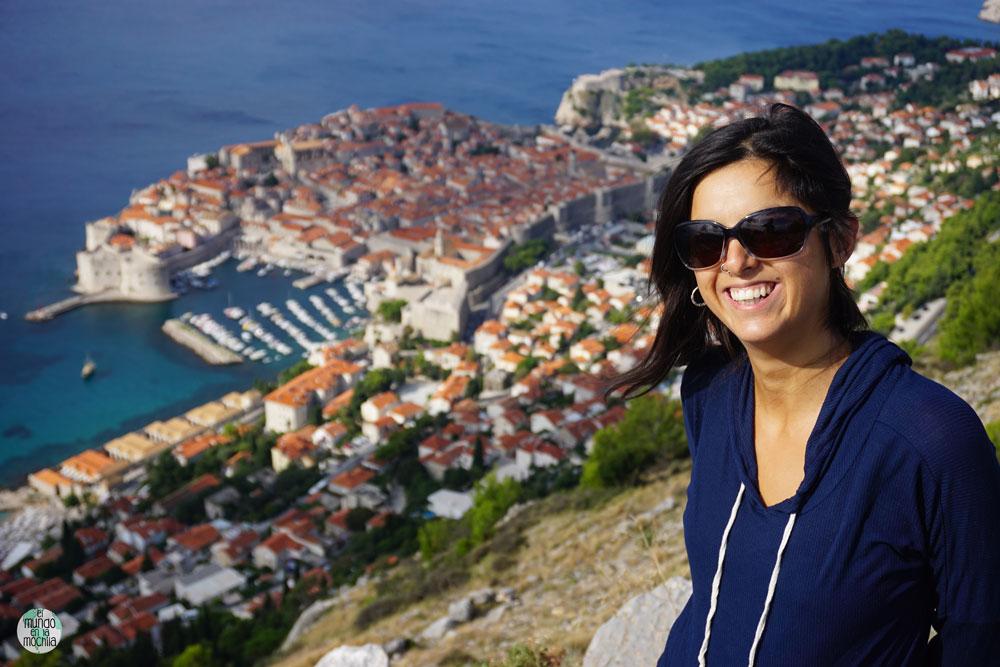 Una mañana soleada desde el mirador del terleférico de Dubrovnik