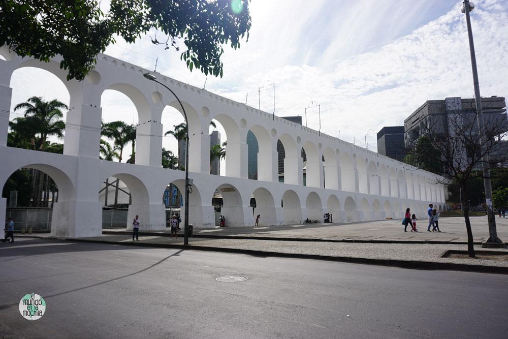 Acueducto de Lapa en Rio de Janeiro