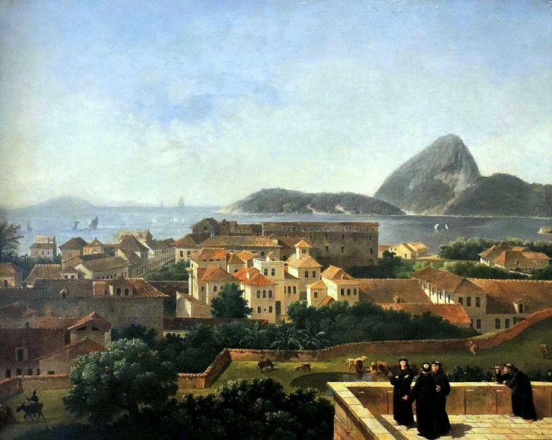 Pintura de Nicolas-Antoine Taunay del morro Sao Antonio, uno de los primeros en albergar una favela