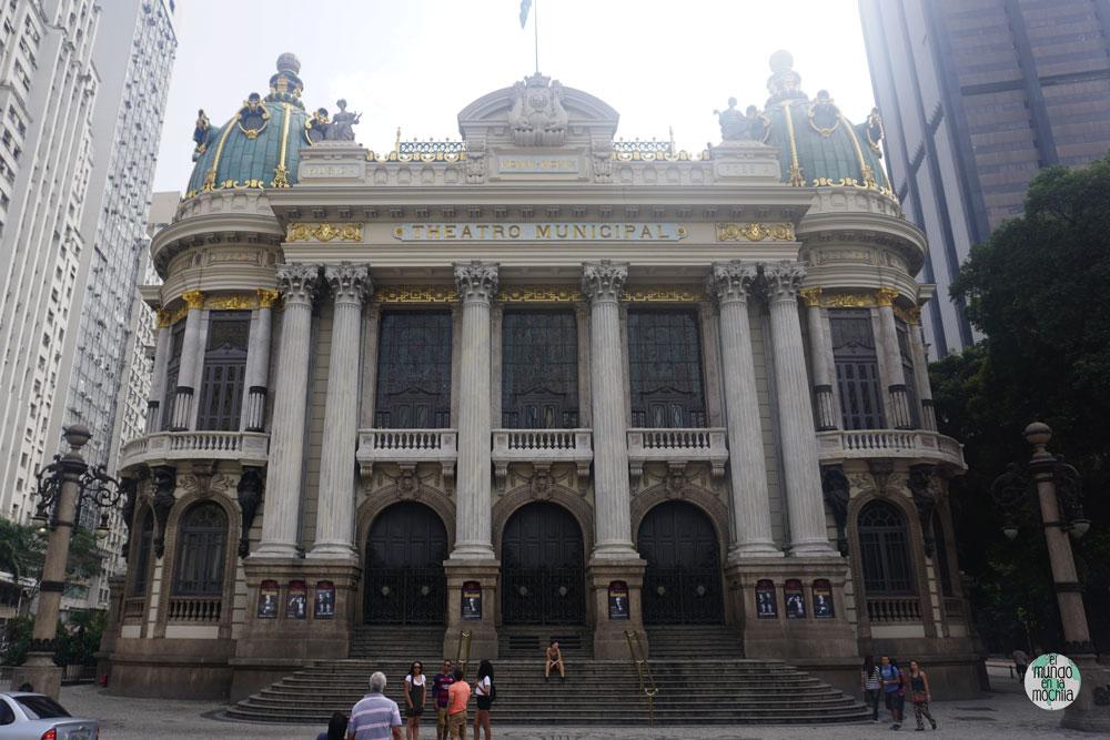 Fachada del Teatro Municipal de Rio de Janeiro