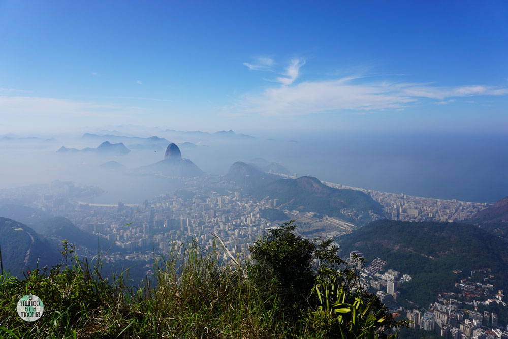 Vistas de Rio de Janeiro desde el Cristo de Corcovado
