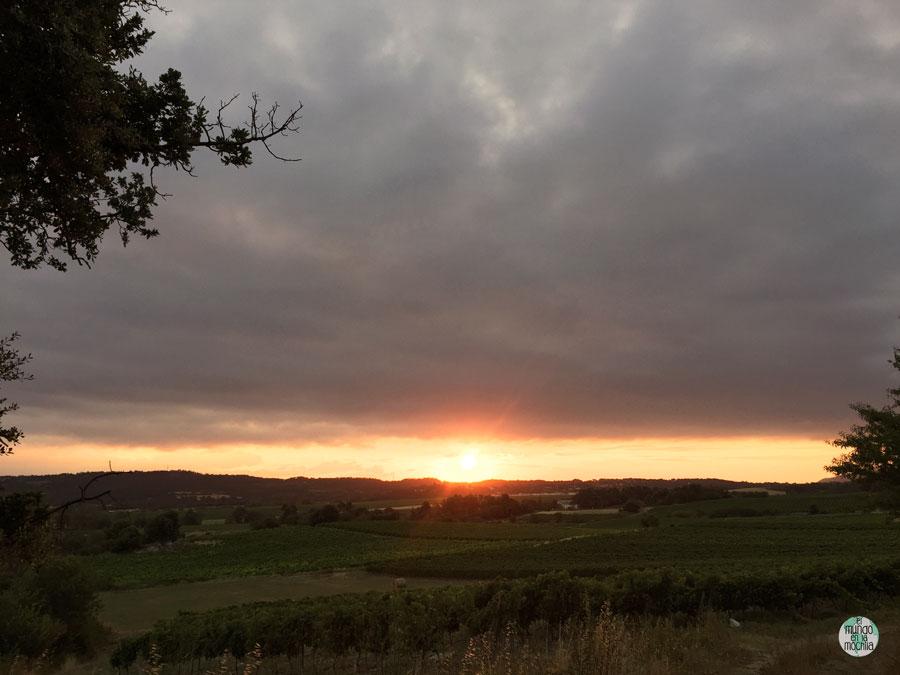 Puesta de sol en la toscana italiana