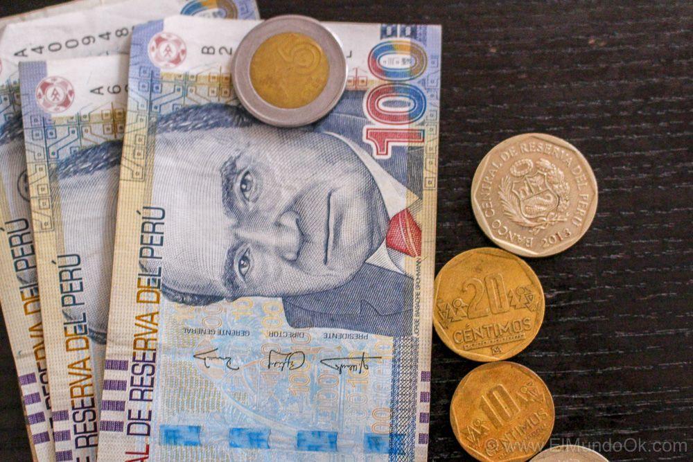 Billetes y monedas: Nuevos soles del Perú. Viajar a Perú.