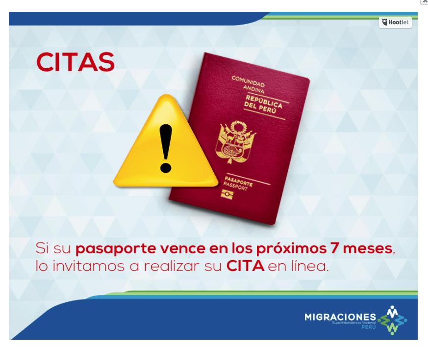 como obtener la cita para el pasaporte electrónico peruano.