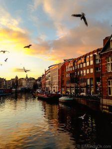 Atardecer en Amsterdam.