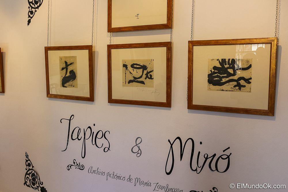 Objetos de María Zambrano en la Fundación.