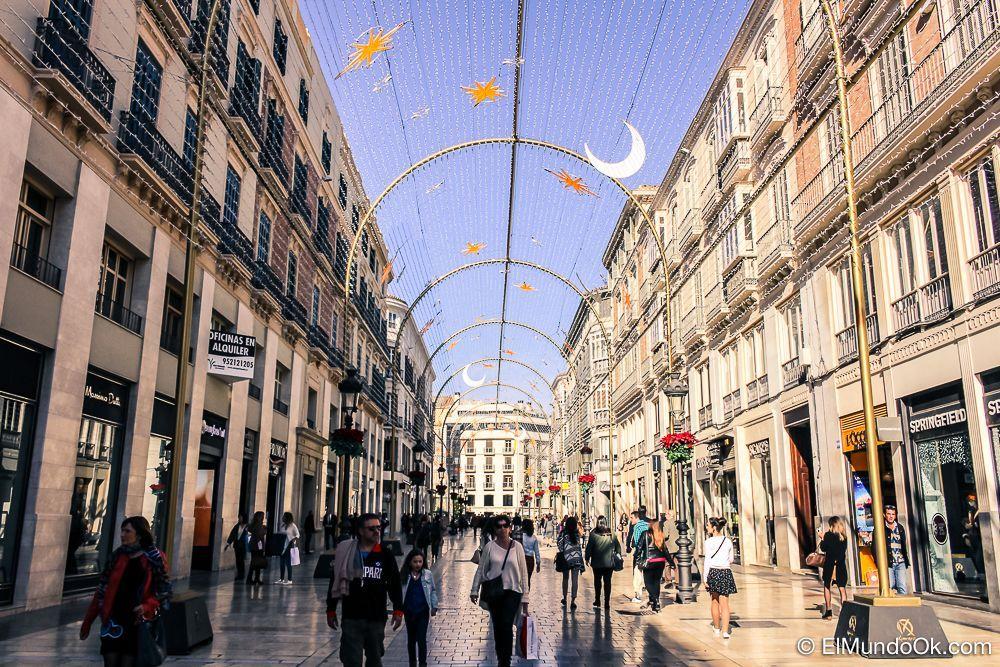 Recuerdo de Navidad del 2015 en la Calle Larios. Málaga. España.
