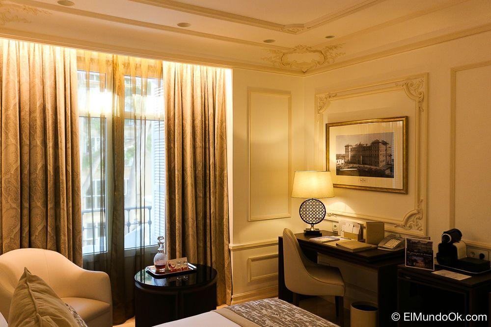 Detalle de mi habitación, una de las clásicas con balcón en la tercera planta. Gran Hotel Miramar.