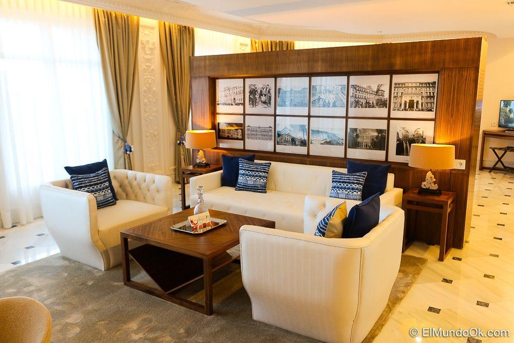 """La Suite """"Arquitecto"""" con elementos clásicos y modernos en armonía. Gran Hotel Miramar."""