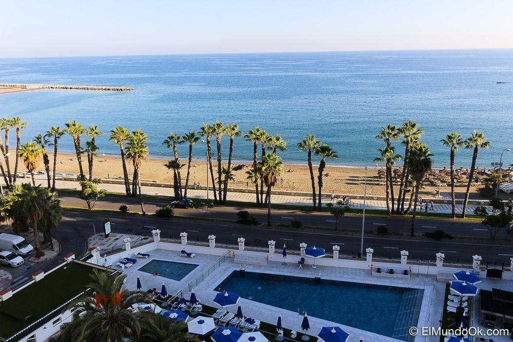 Vistas de parte de las instalaciones y el Mediterráneo. Gran Hotel Miramar.