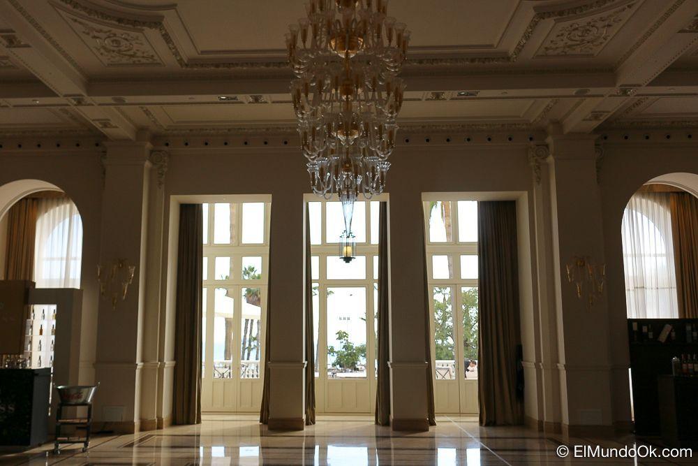 """El Salón """"Victoria"""", lugar donde se celebraban los bailes y recepciones de principios del siglo XX. Gran Hotel Miramar."""