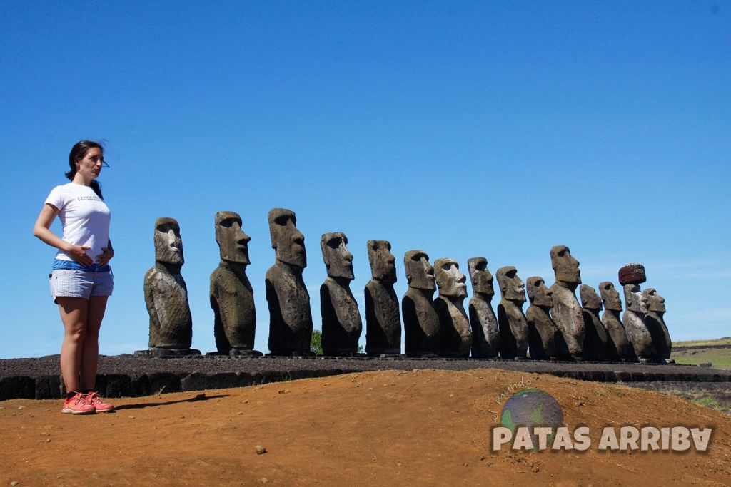 Haciendo el moai :)
